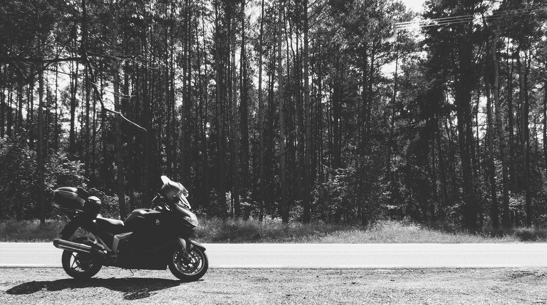 motocyklem wzdłuż Wisły