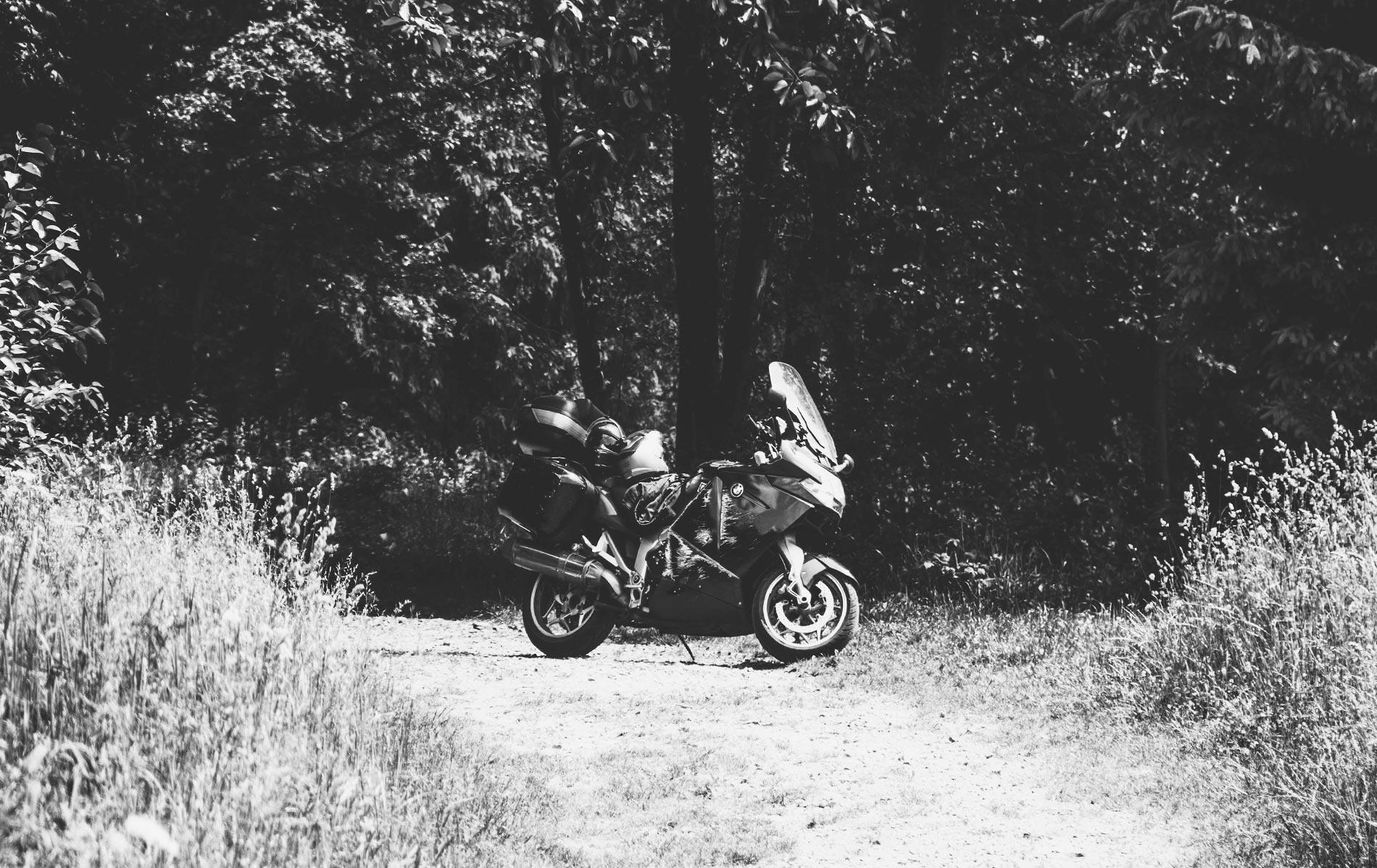 motocyklem w Beskid