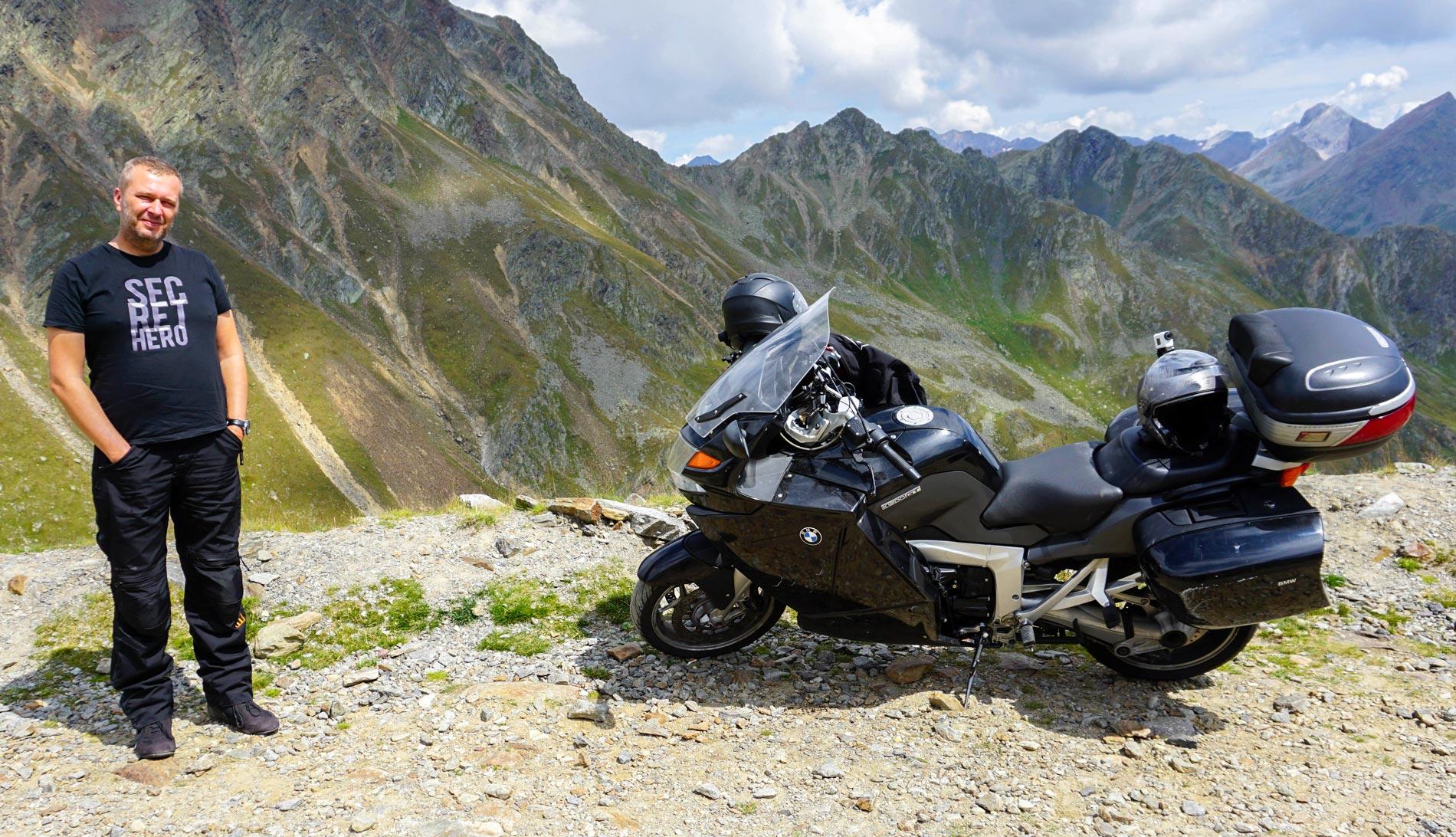 Timmelsjoch na motocyklu